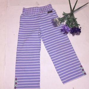 Matilda Jane Lavender Stripe Pants Sz 6